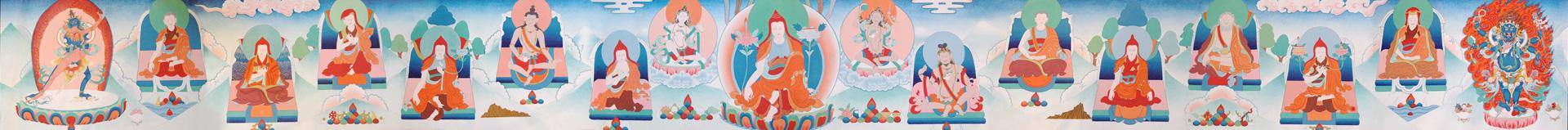 panoramic tangkha shangpa lineage